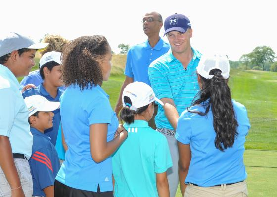 Jordan Spieth makes appearance at First Tee Classic at Liberty National