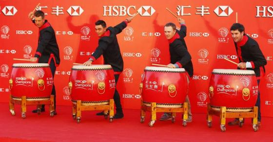 Stenson, Fowler, Spieth and Watson Perform The Lion Dance