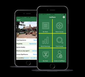 GolfRank App (Multi Screens)