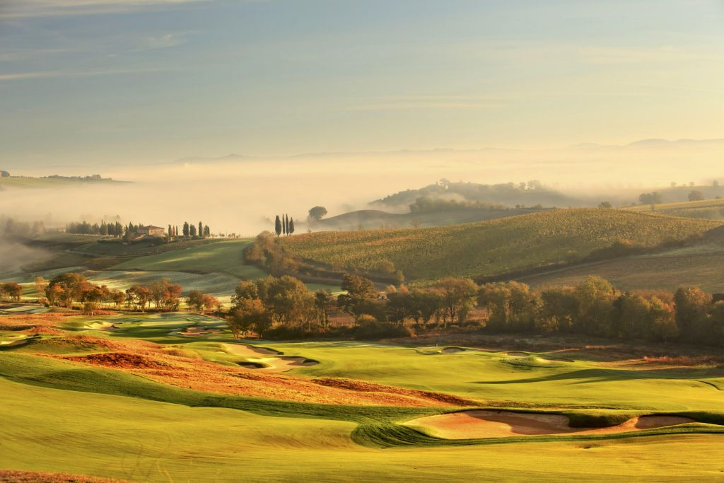 The golf course at The Club at Castiglion del Bosco, Europe's finest golf and wine experience. (photo credit – Aidan Bradley)